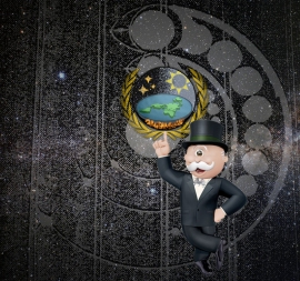 Flat Earth Monopoly V2 - T Shirt Image