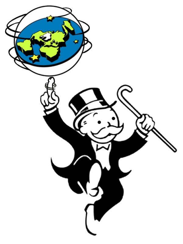 Flat Earth Monopoly - T Shirt Image